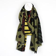 Khaki & Mustard Animal Print Scarf £14.99
