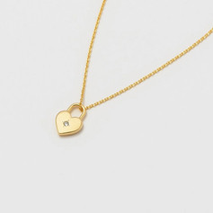 EB 'Lovely little thing' Gold Heart Padlock Necklace £19.99