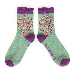 Alphabet Socks: 'V' £7.99