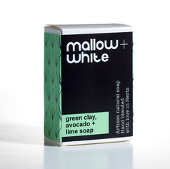 OUT OF STOCK Mallow & White Green Clay, Avocado & Lime Soap £7.99
