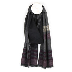 Peace of Mind Grey Mix Striped Scarf £12.99