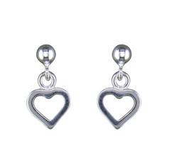 CME Plain Open Heart Drop Earrings £9.99