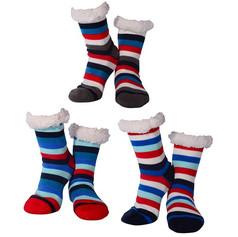 Nuzzles men's striped slipper socks £7.99