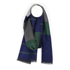 Peace of Mind Grey, Green & Blue Scarf £12.99