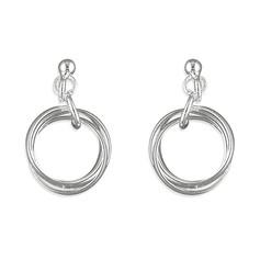 CME Russian Wedding Ring Drop Earrings £10.99