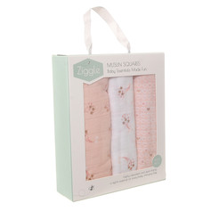 Box of 3 Pink Muslin Squares £14.99