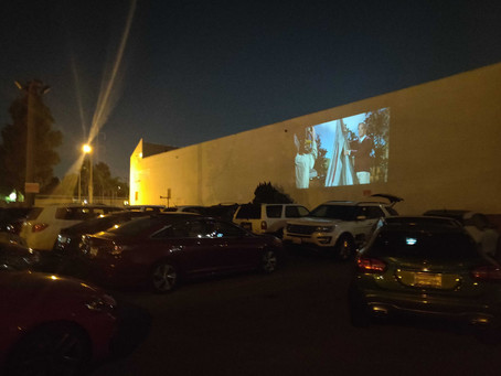 Ladera Heights Pop-Up Drive-In Draws Capacity Crowd