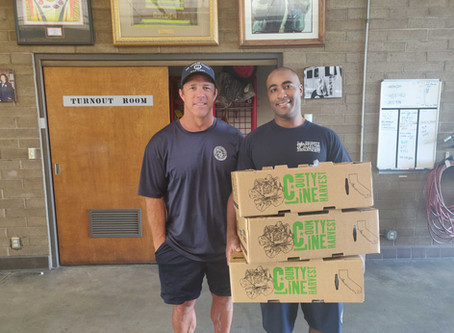 Ladera Farmers Market Gives Back to First Responders