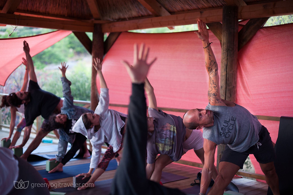 Practice in the yoga shala