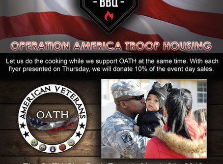 Operation America Troop Housing - March 8th