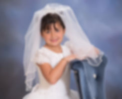 First Holy Communion picture done at St. Francis of Assisi West Nyack NY Beth Capuano Photography