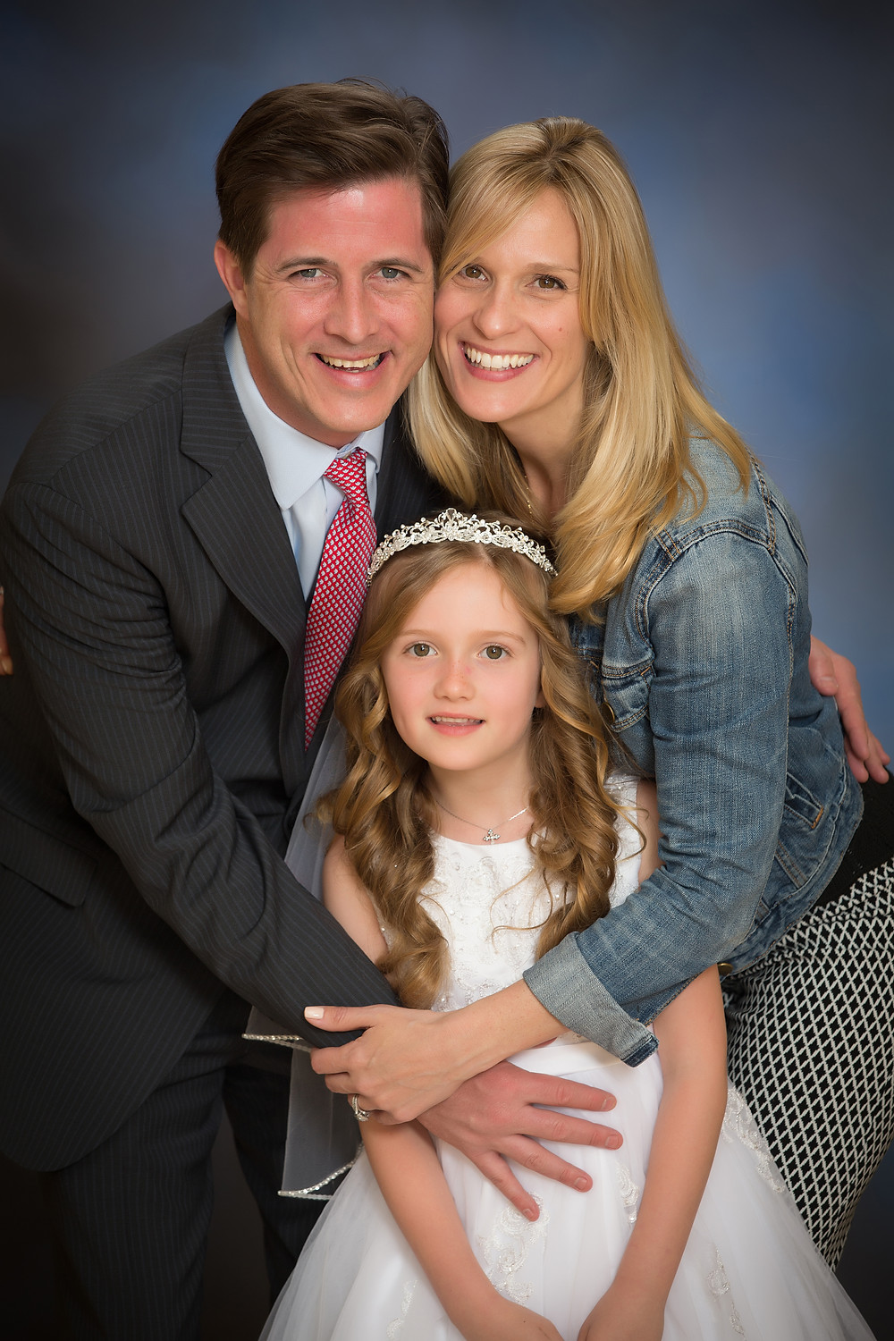 communion girl with family St Francis Church West Nyack NY