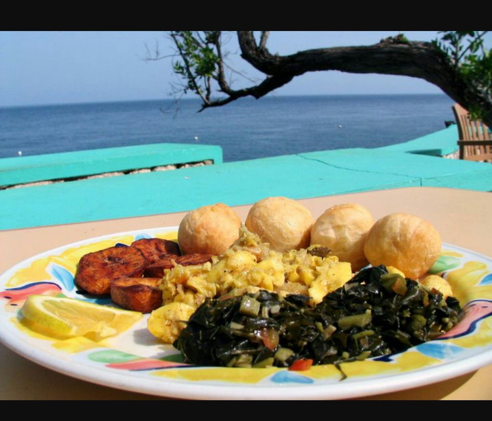 Epiphany ackee saltfish calloo breakfast