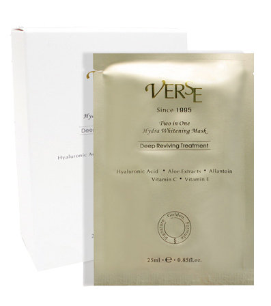 VERSE唯詩二合一水潤亮白面膜 2 in 1 Hydra Whitening Mask(10入)