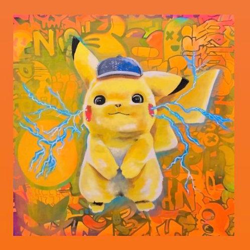 Cody Original Painting -- Pikachu