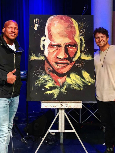 RYAN SHAZIER 11 MINUTE LIVE PAINTING AT