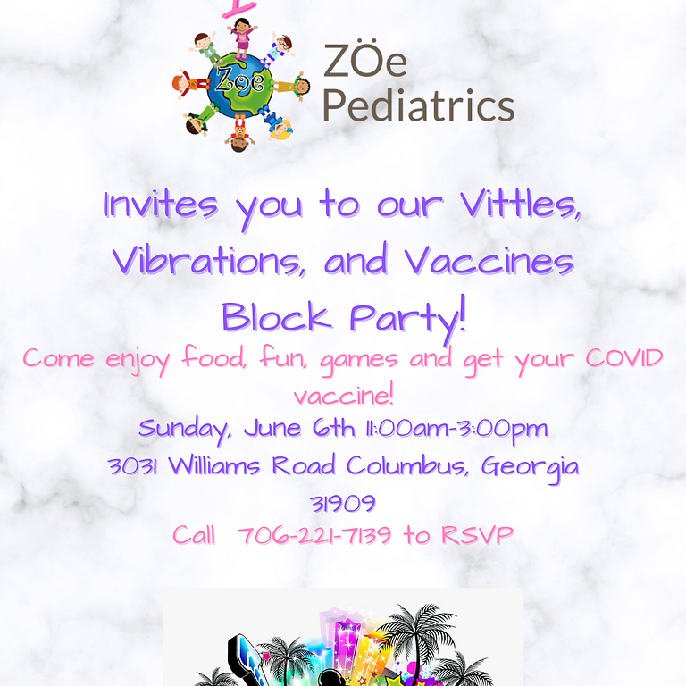 Vittles, Vibrations, and Vaccines Block Party