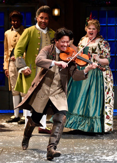 """Actors Theatre of Louisville - """"Whit K. Lee fiddles and dances about with ease while providing a soundtrack befitting somber and beautiful scenes."""" -Jennifer Starr Broadway World. (Photo by Jonathan Roberts)"""