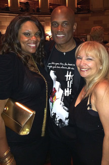With Kenny Leon