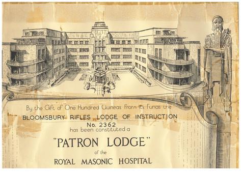 Royal Masonic Hospital Certificate