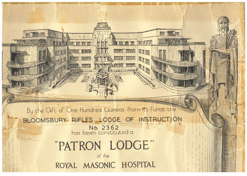 Royal Masonic Hospital Certificate
