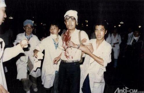 89年6月3日晚10时前,开枪命令下达,从西长安街军事博物馆前集结出发的