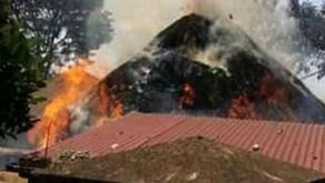 VIDEO; Kasubi Tombs Catch Fire Again, Police Intervene.