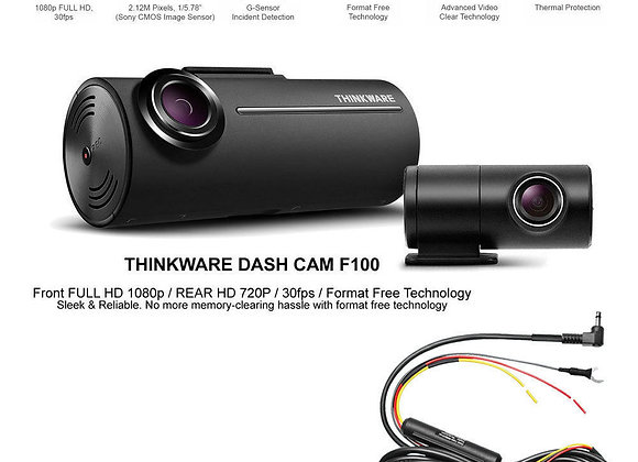 Thinkware F100 Front and Rear G Sensor Dash Cam