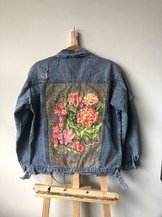 Custom Jean jacket for Mama Fang's birthday