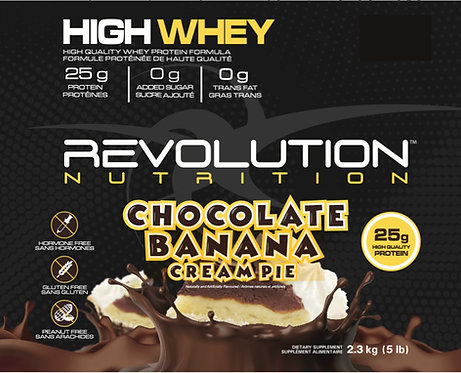 Revolution Nutrition High Whey Chocolate Banana Cream Pie (1+ servings)