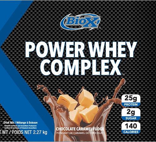 BioX Power Whey Complex Chocolate Caramel Fudge (1 + servings)