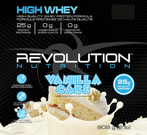 Revolution Nutrition High Whey Vanilla Cake (1+ servings)