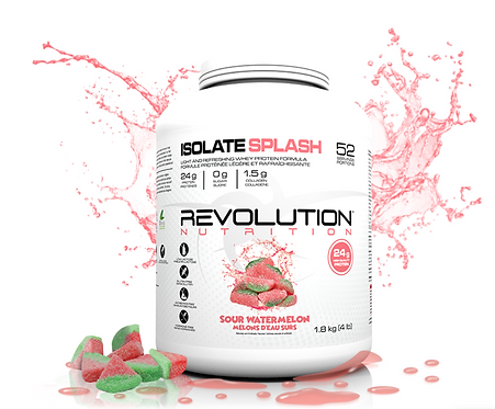 Revolution Nutrition Whey Isolate Splash Sour Watermelon (1.8lbs tub)