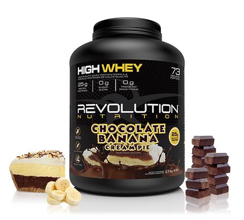 Revolution Nutrition High Whey Chocolate Banana Cream Pie (6lbs tub)