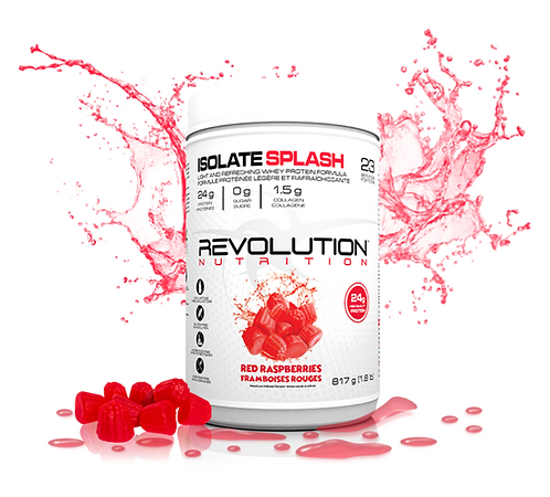 Revolution Nutrition Isolate Splash Red Raspberries (1.8lbs tub)