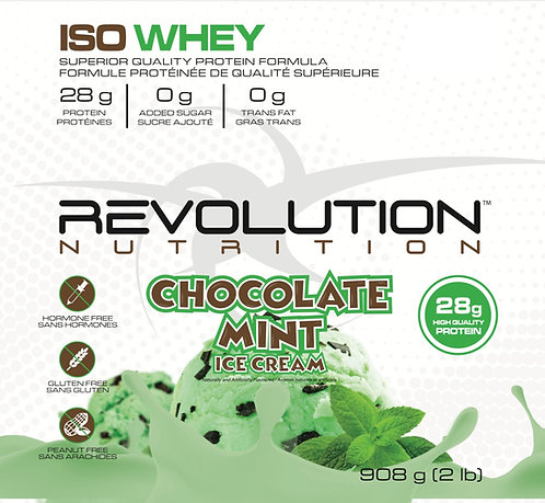 Revolution Nutrition Whey Isolate Chocolate Mint Ice Cream (1+ servings)