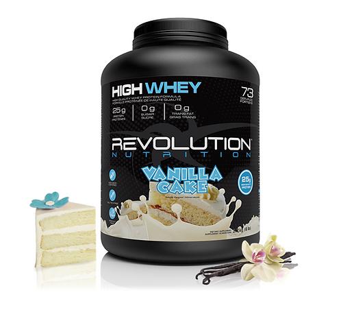 Revolution Nutrition High Whey Vanilla Cake (6lbs tub)