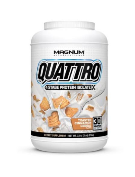 Magnum Nutraceuticals Quattro Toasted Cinnamon Cereal (2 lbs tub)
