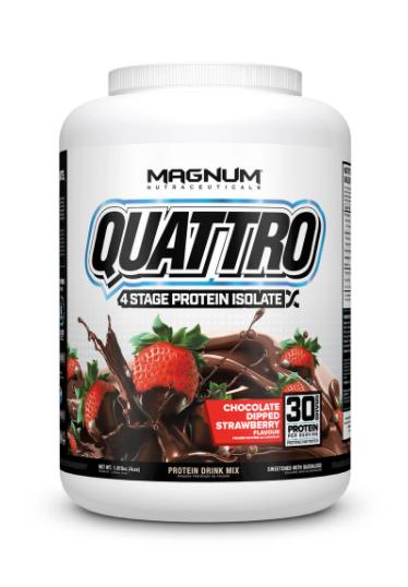 Magnum Nutraceuticals Quattro Chocolate Dipped Strawberry (4lbs tub)