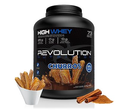 Revolution Nutrition High Whey Churros (6lbs tub)