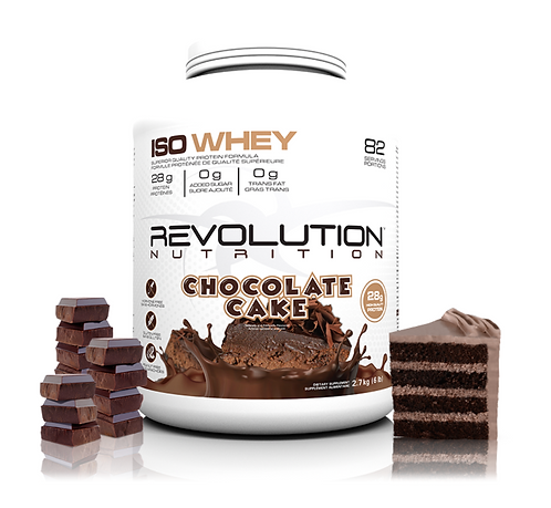 Revolution Nutrition Whey Isolate Chocolate Cake (5lbs tub)
