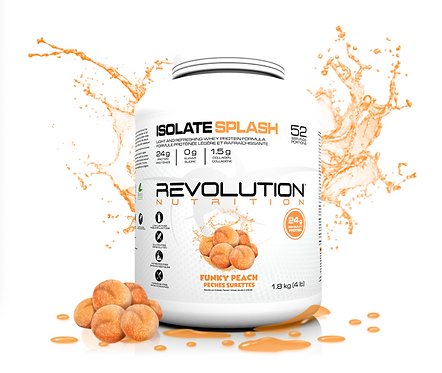 Revolution Nutrition Whey Isolate Splash Funky Peach (1.8lbs tub)