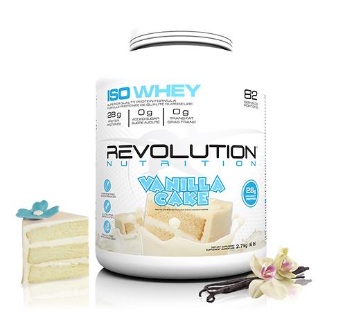 Revolution Nutrition Whey Isolate Vanilla Cake (6lbs tub)