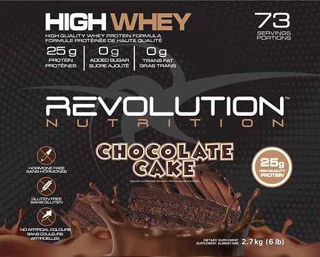 Revolution Nutrition High Whey Chocolate Cake (1+ servings)