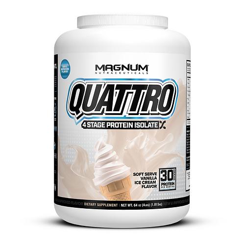 Magnum Nutraceuticals Quattro Soft Serve Vanilla Ice Cream (4lbs tub)