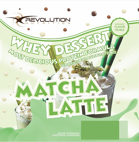 Revolution Nutrition Whey Dessert Matcha Latte (1+ servings)