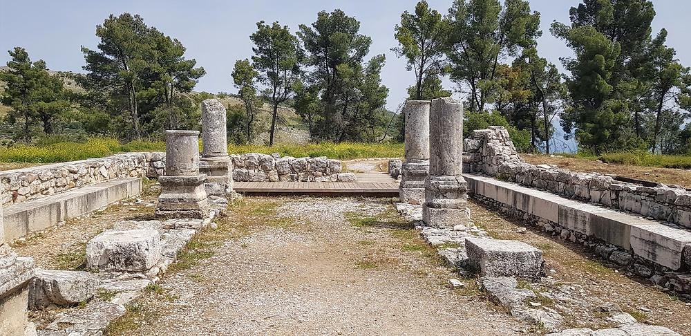 שרידי בית הכנסת נבוריה ביער ביריה