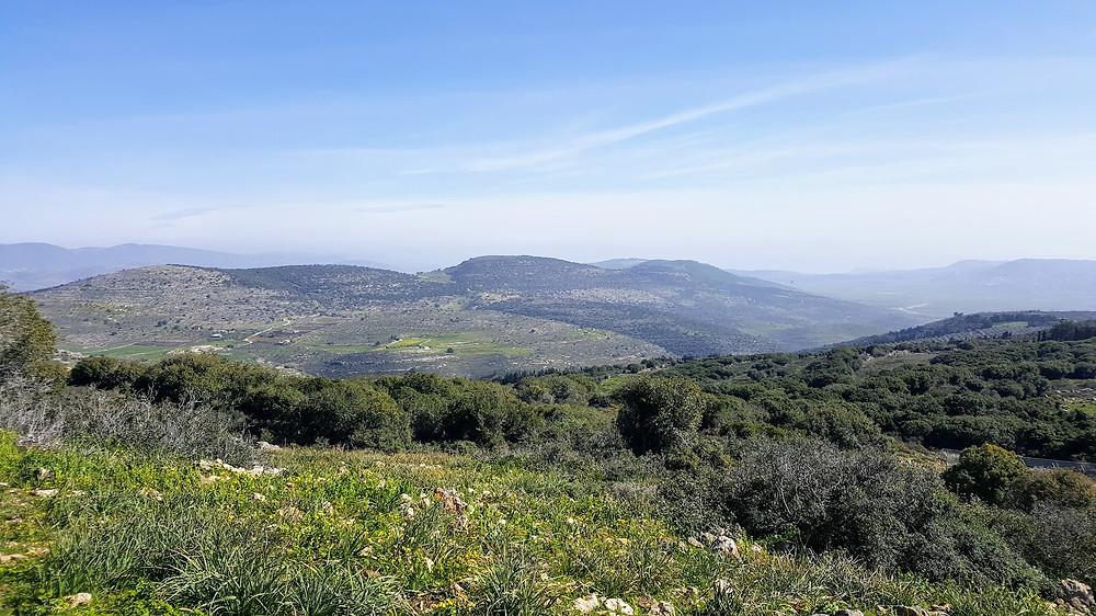 נוף מפסגת הר עצמון בגליל