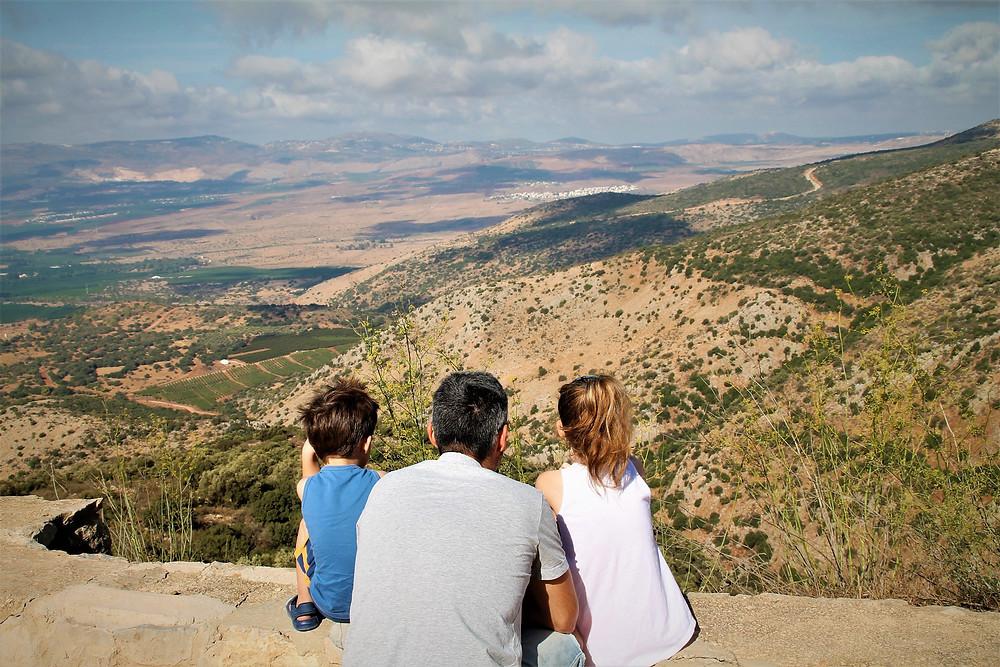 נוף ממבצר נמרוד בצפון רמת הגולן