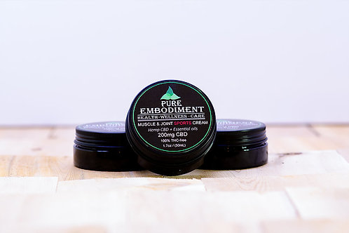 Pure Embodiment SPORT - 200mg CBD Muscle & Joint Cream